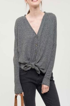 Blu Pepper Knit Button Top - Product List Image