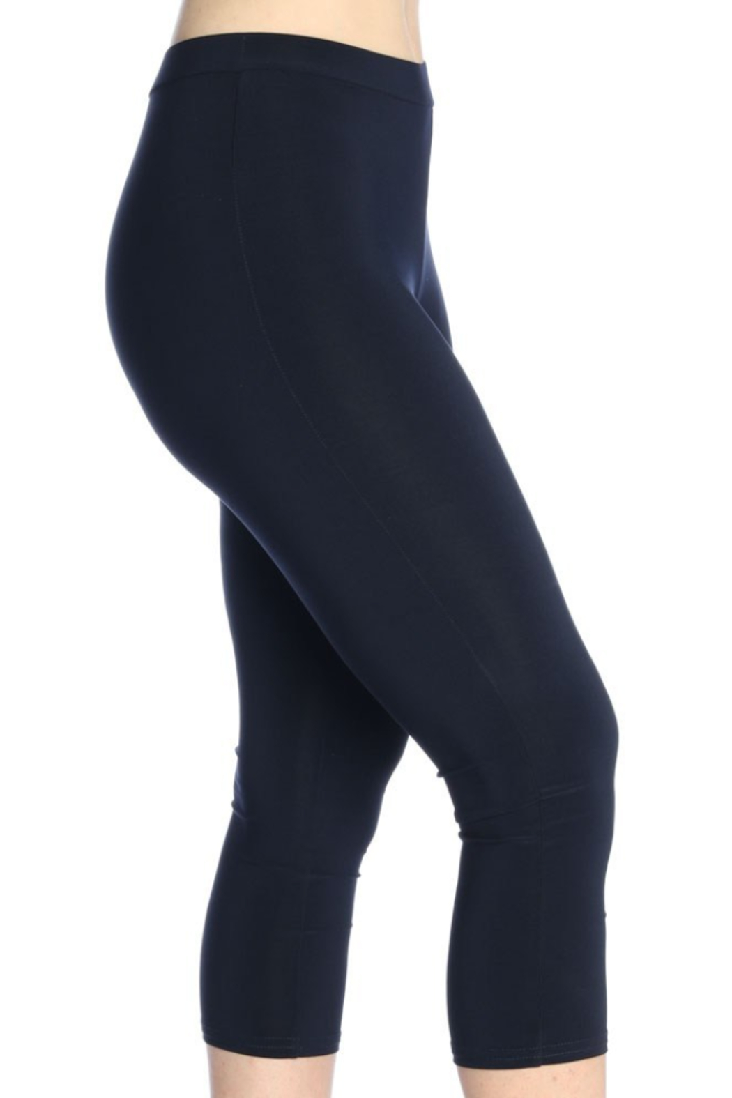 Michael Tyler Collections Knit Capri Basic Legging - Side Cropped Image