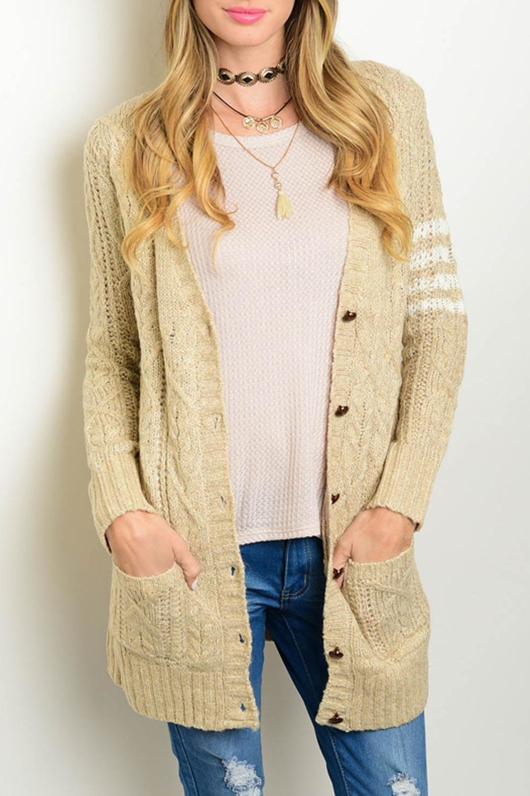 Very J Knit Cardigan Sweater - Front Cropped Image