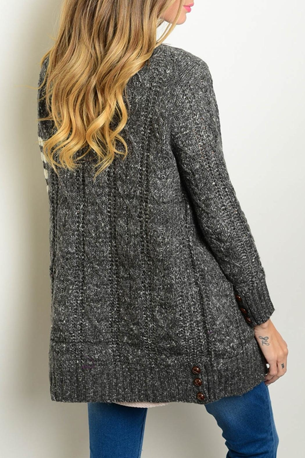 Very J Knit Cardigan Sweater - Front Full Image