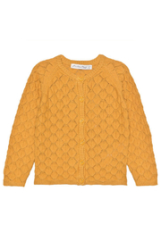 Minymo Knit Cardigan - Amber Gold - Front cropped