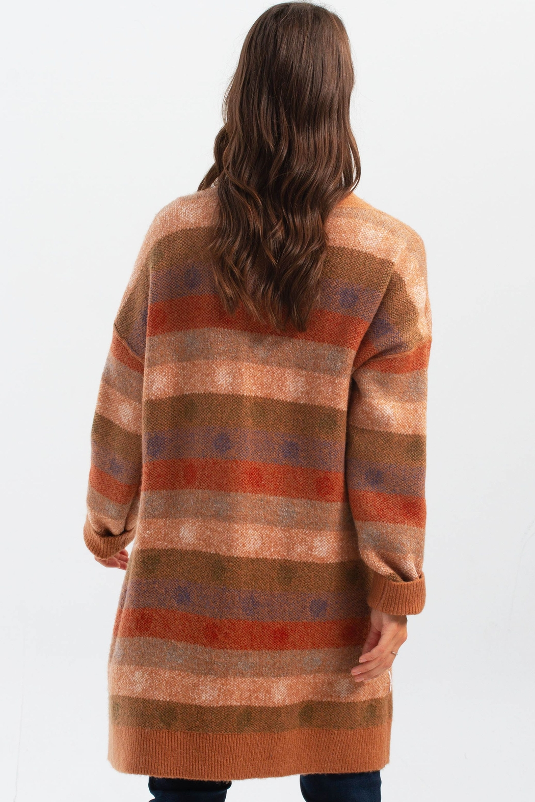 Charlie B. Knit Cardigan with Pockets - Back Cropped Image