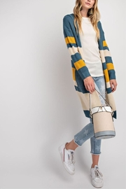 easel Knit Color-Block Cardigan - Front full body