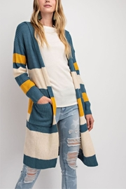 easel Knit Color-Block Cardigan - Product Mini Image