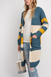 easel Knit Color-Block Cardigan - Side cropped