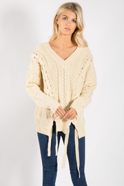 Elan Knit Cream Sweater - Product Mini Image