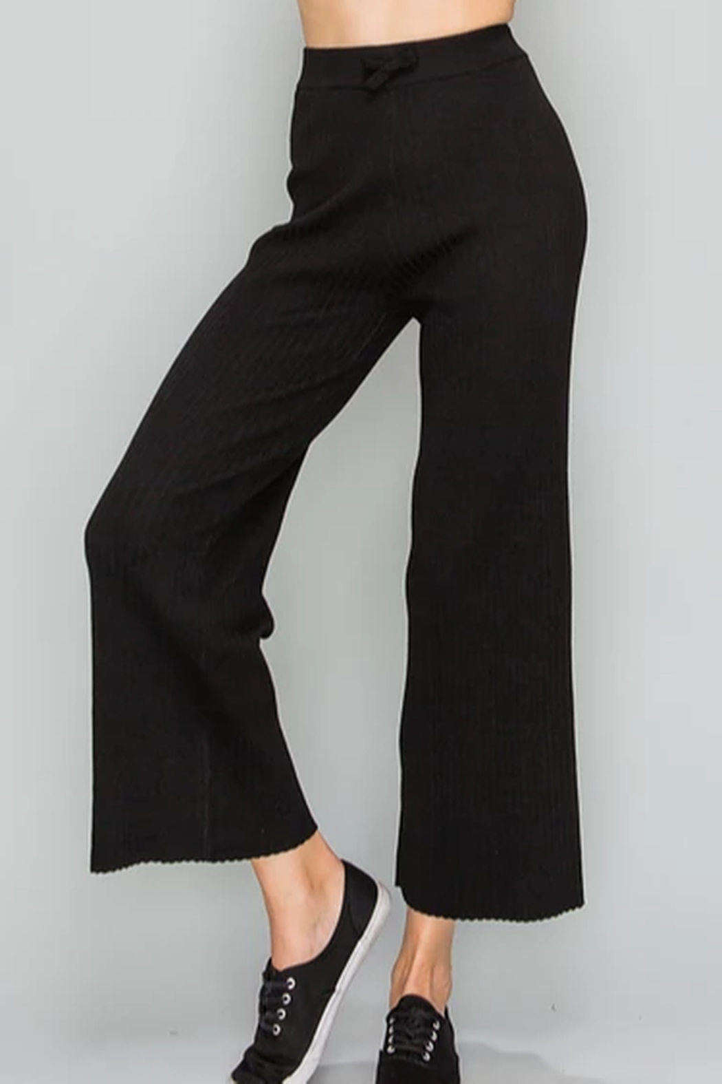 Glam Knit Crop Pant - Front Cropped Image