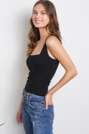 Charlotte Avery Knit Crop Top - Front full body