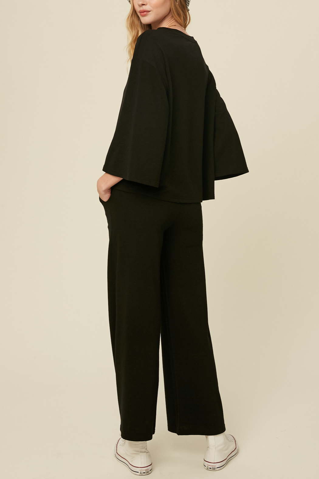 Listicle Knit Culotte Set - Front Full Image