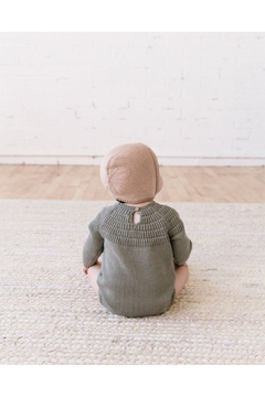 Quincy Mae Knit Dalia Romper - Eucalyptus - Product List Image
