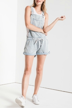 z supply Knit Denim Shortall - Product List Image