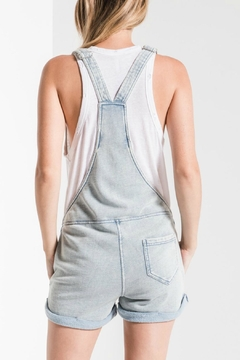 z supply Knit Denim Shortall - Alternate List Image