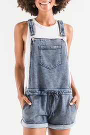 z supply Knit Denim Shortalls - Product Mini Image