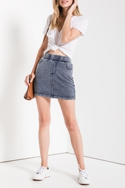 z supply Knit Denim Skirt - Product Mini Image