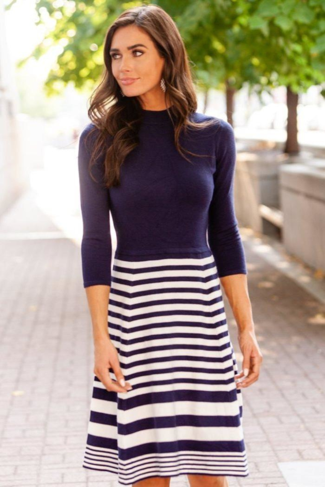 DE Collection Knit Dress - Front Cropped Image