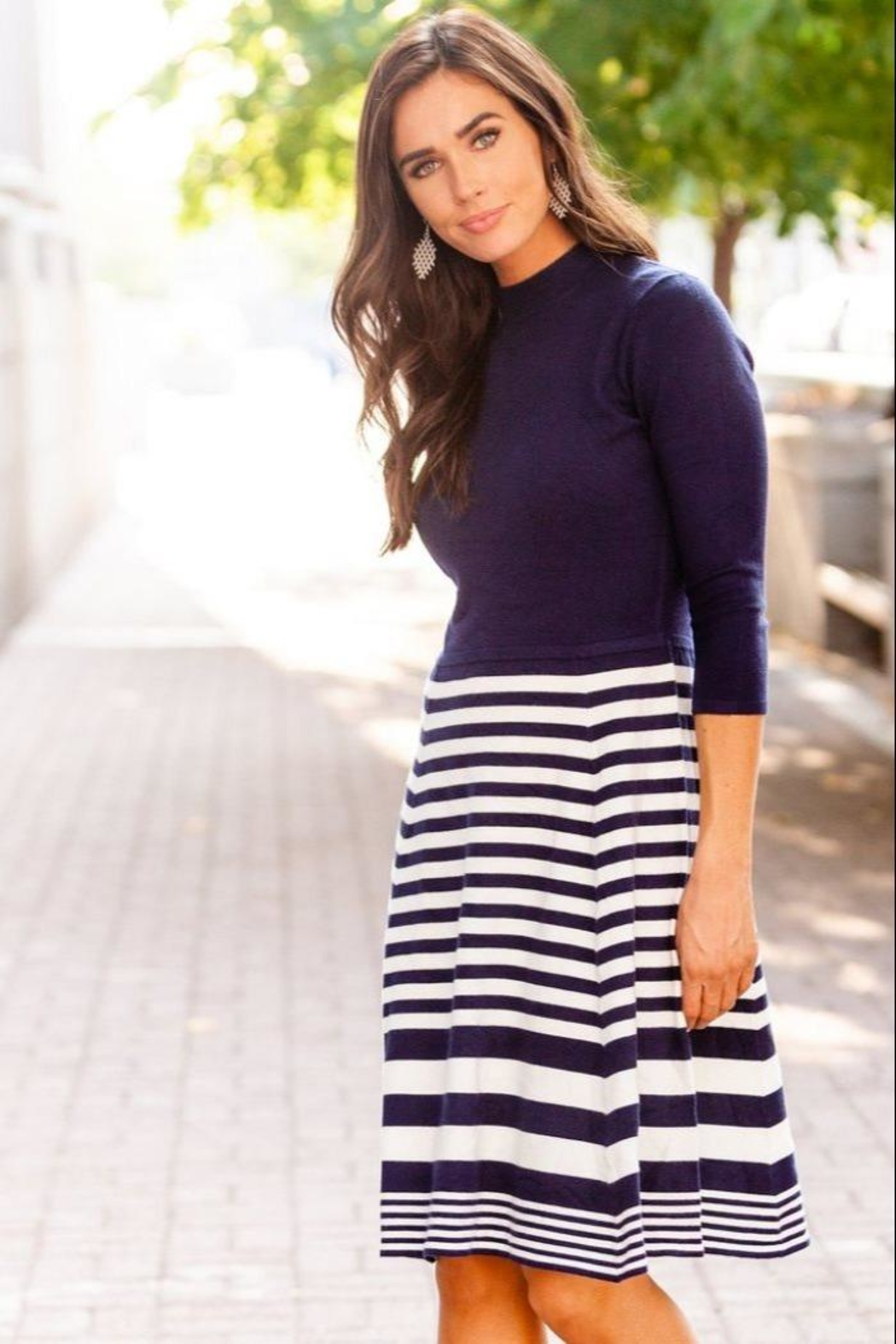 DE Collection Knit Dress - Front Full Image