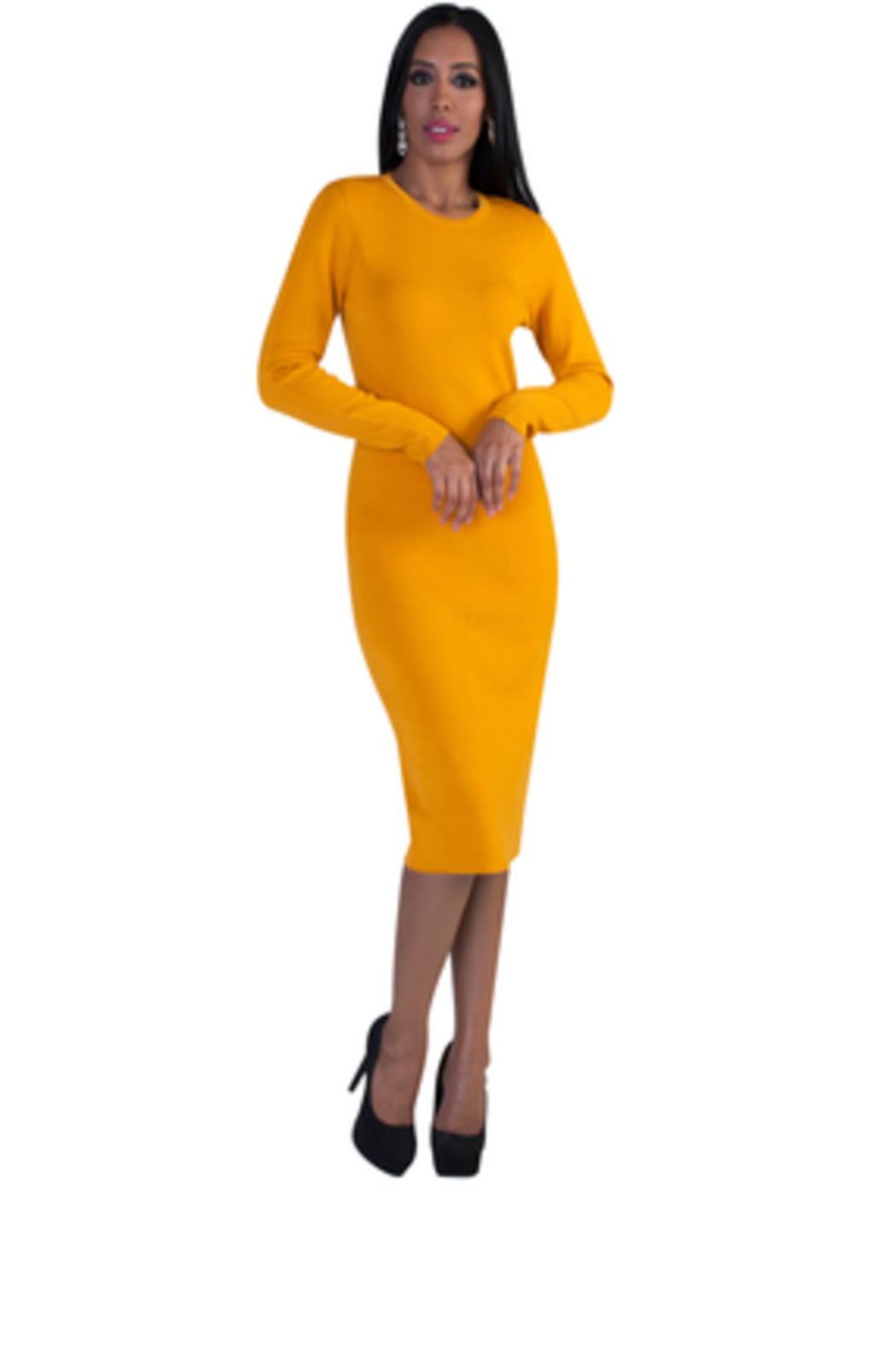 Tally Taylor Knit Dress - Front Full Image