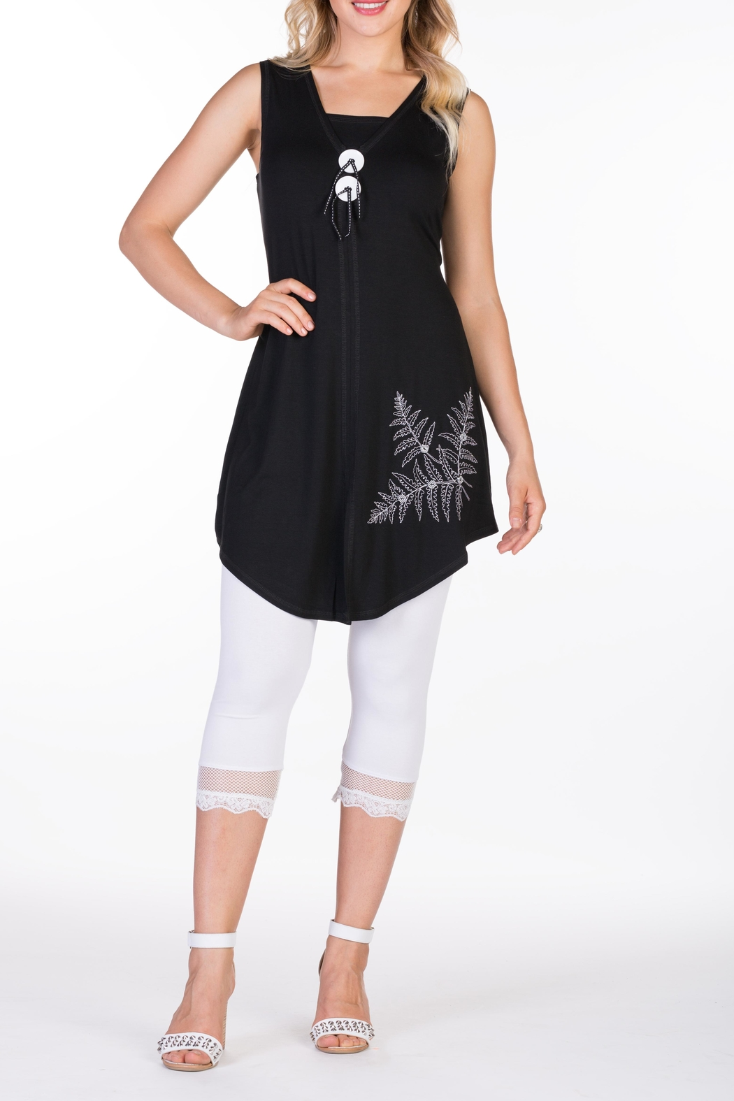 Varations Knit Embroidered Tunic - Main Image
