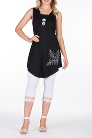 Varations Knit Embroidered Tunic - Front cropped