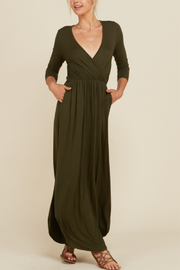 annabelle Knit Faux Wrap Maxi - Product Mini Image