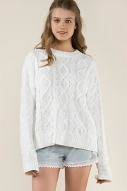 POL Knit Fleece Sweater - Front cropped