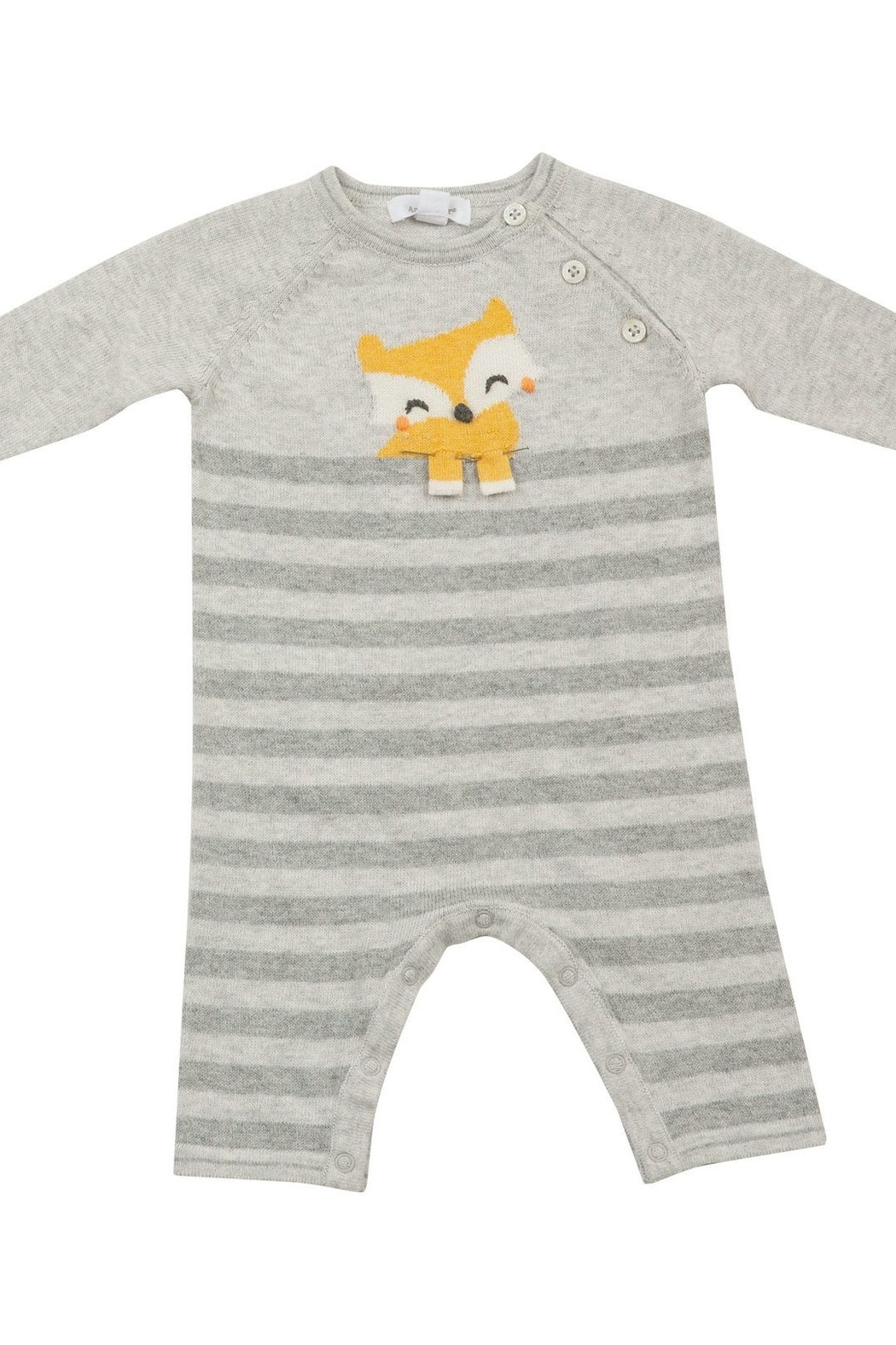 Angel Dear Knit Fox Coverall - Front Cropped Image