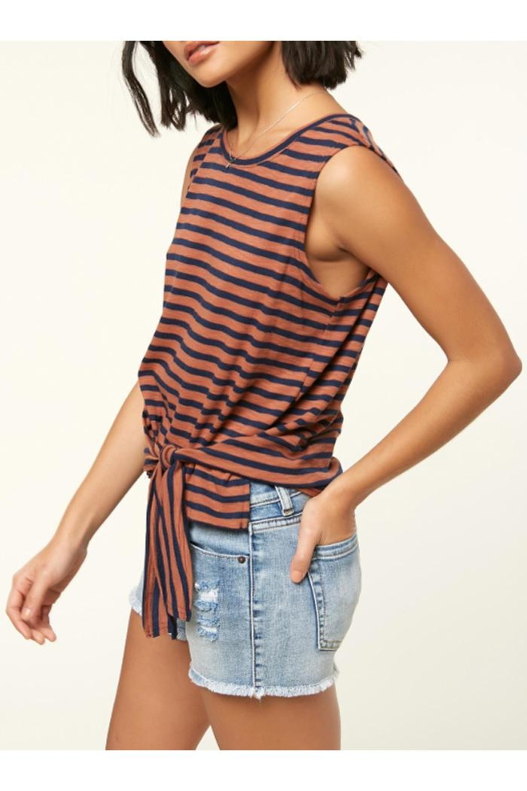 O'Neill Knit Front-Tie Tank - Front Full Image