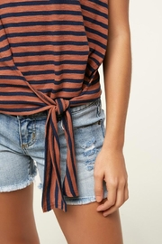 O'Neill Knit Front-Tie Tank - Back cropped