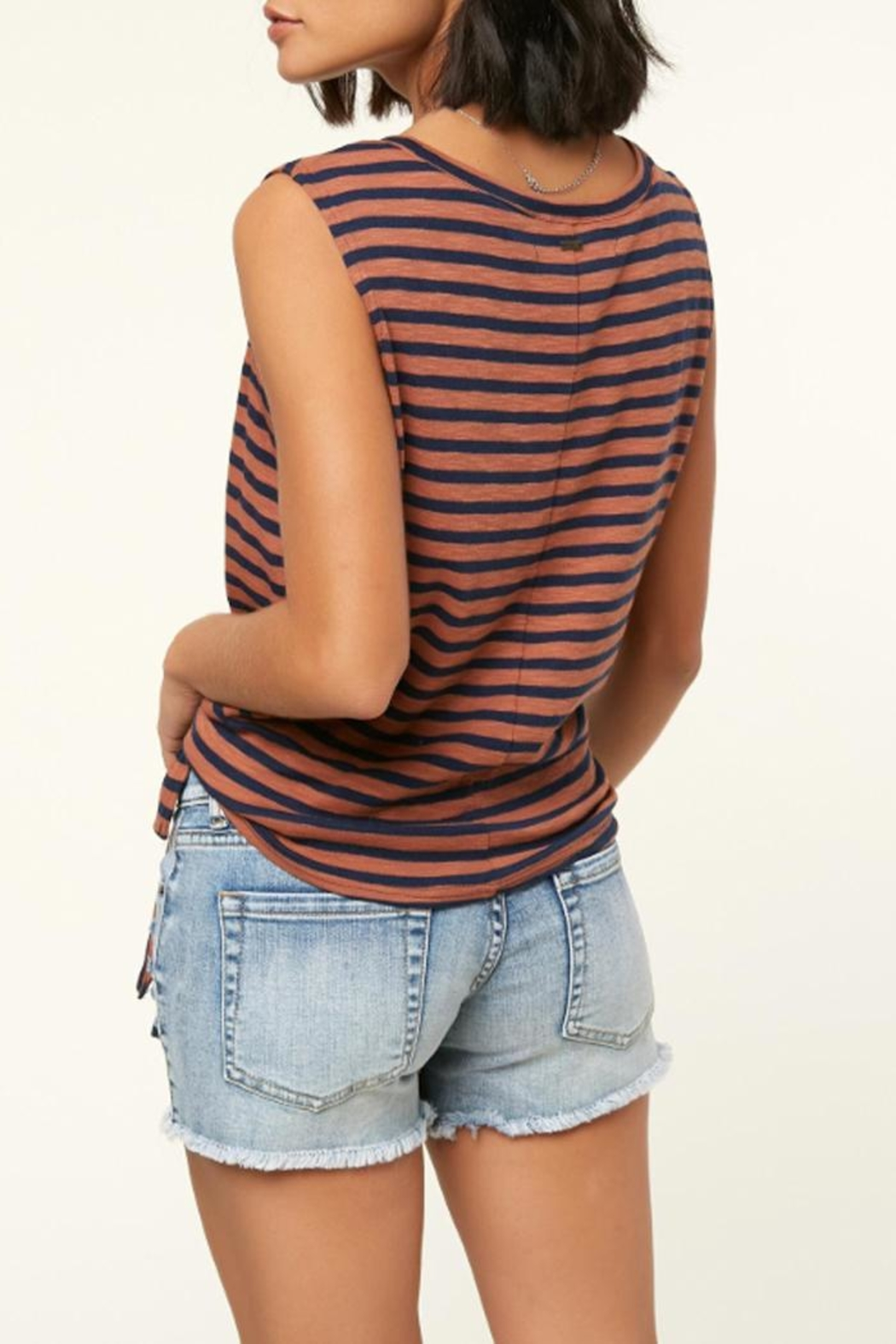 O'Neill Knit Front-Tie Tank - Side Cropped Image