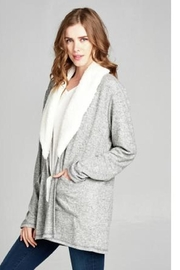 Sinuous Knit Fur Cardigan - Product Mini Image