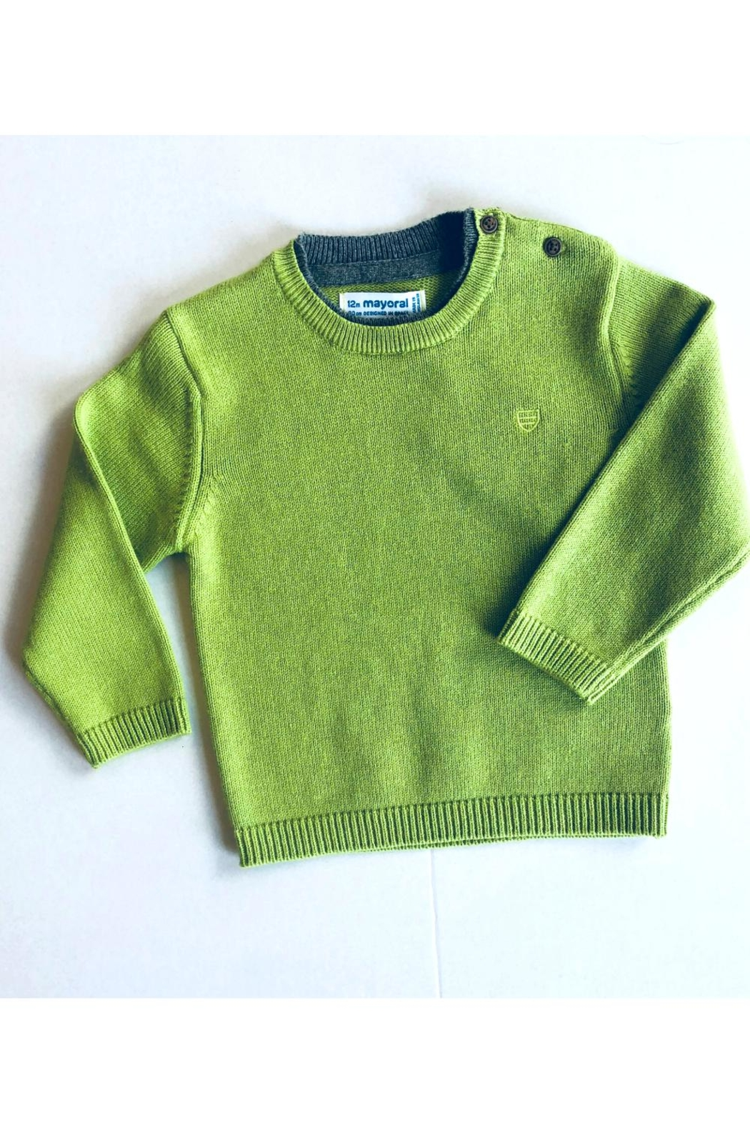 Mayoral Knit Green Sweater - Main Image