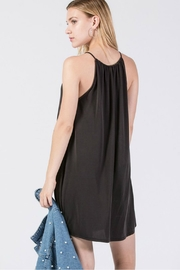 Double Zero Knit High-Neck Dress - Back cropped