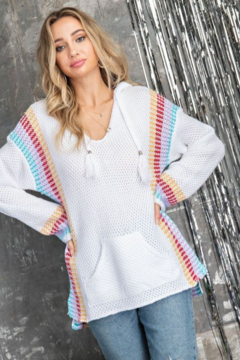 143 Story Knit Hoodie Sweater - Product List Image