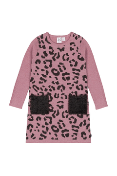 Deux Par Deux Knit Leopard Dress - Product List Image