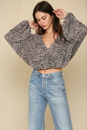 By Together  Knit Leopard Top - Product Mini Image