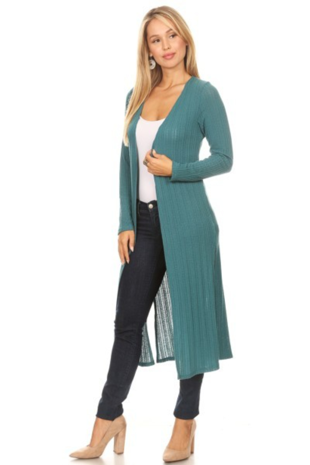 Chris and Carol Knit Long Sleeve Cardigan - Front Full Image
