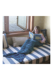 DEI Knit Mermaid Tail Blanket - Product Mini Image
