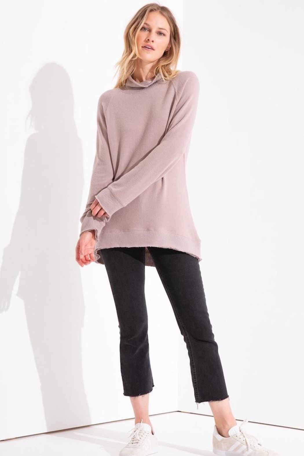 z supply Knit Mock-Neck Pullover - Front Full Image