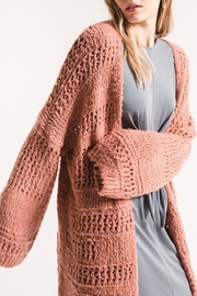 rag poets Knit Open Cardigan - Product Mini Image