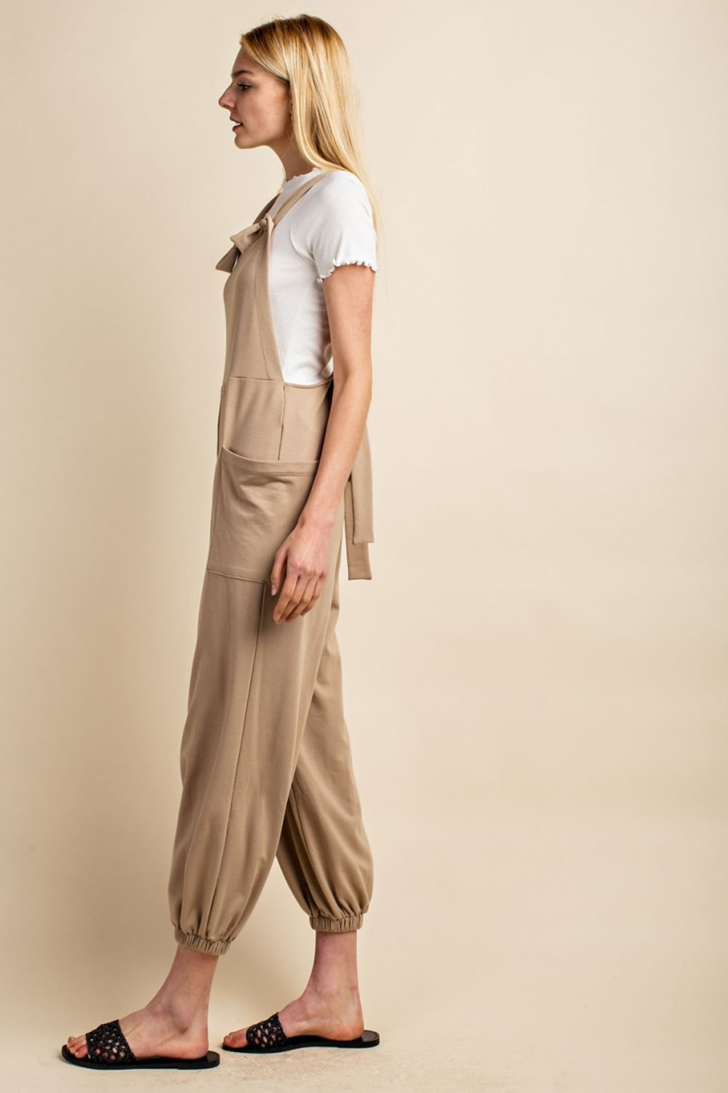 Gilli  Knit Overalls - Side Cropped Image