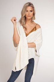 Black Tape Knit Oversized Cardigan - Front cropped