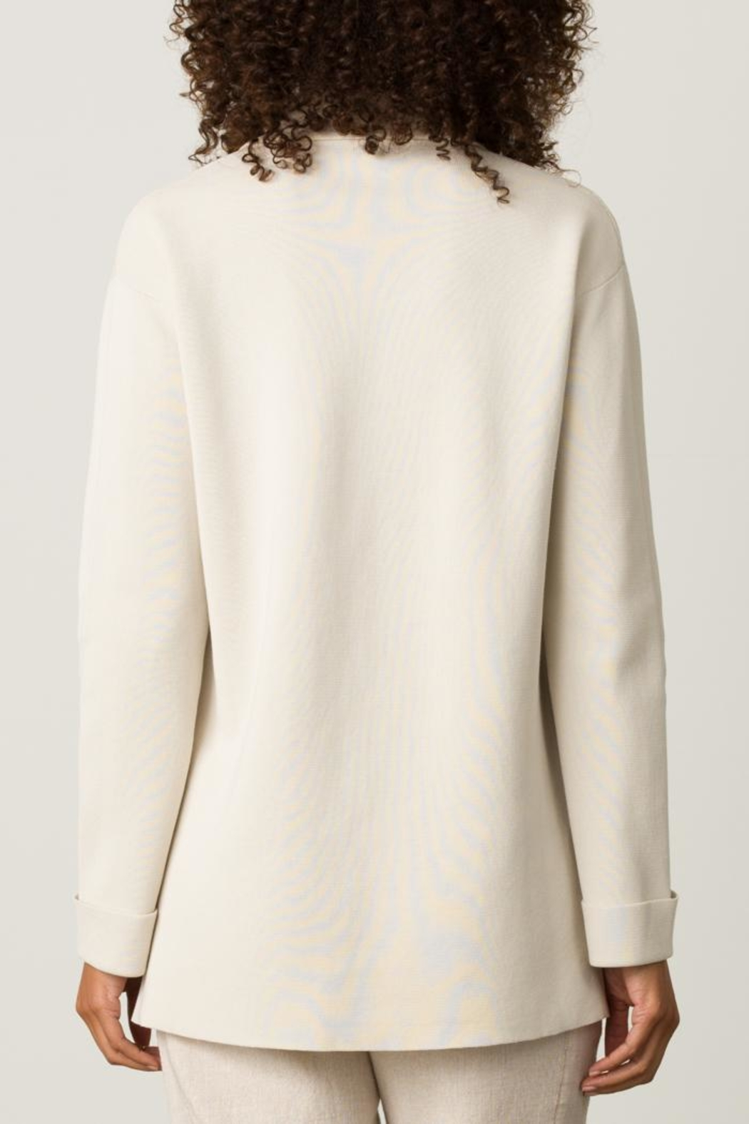 Margaret O'Leary Knit Peacoat - Side Cropped Image