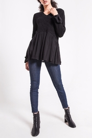 rag poets Knit Peplum Sweater - Back cropped