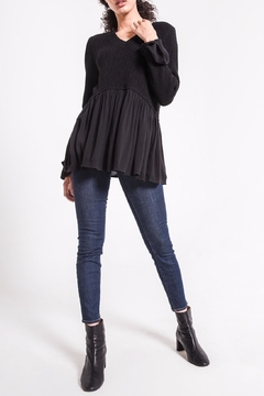rag poets Knit Peplum Sweater - Product List Image