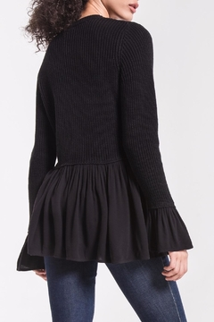 rag poets Knit Peplum Sweater - Alternate List Image