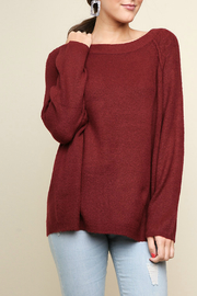 Umgee Knit pullover sweater - Product Mini Image