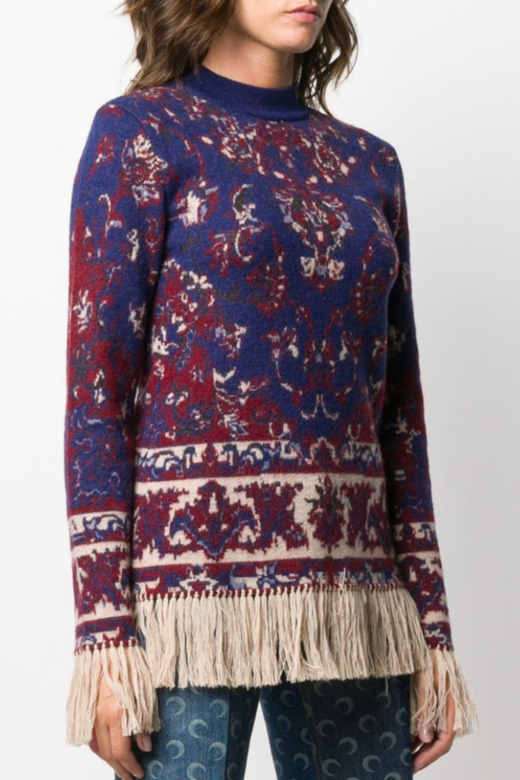 Paco Rabanne KNIT PULLOVER WITH FRINGE - Main Image