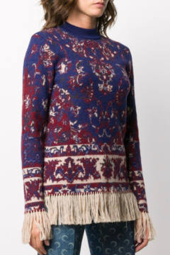 Paco Rabanne KNIT PULLOVER WITH FRINGE - Product List Image
