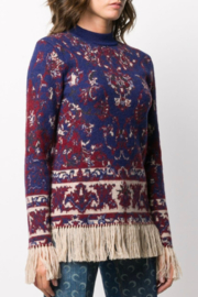 Paco Rabanne KNIT PULLOVER WITH FRINGE - Front cropped