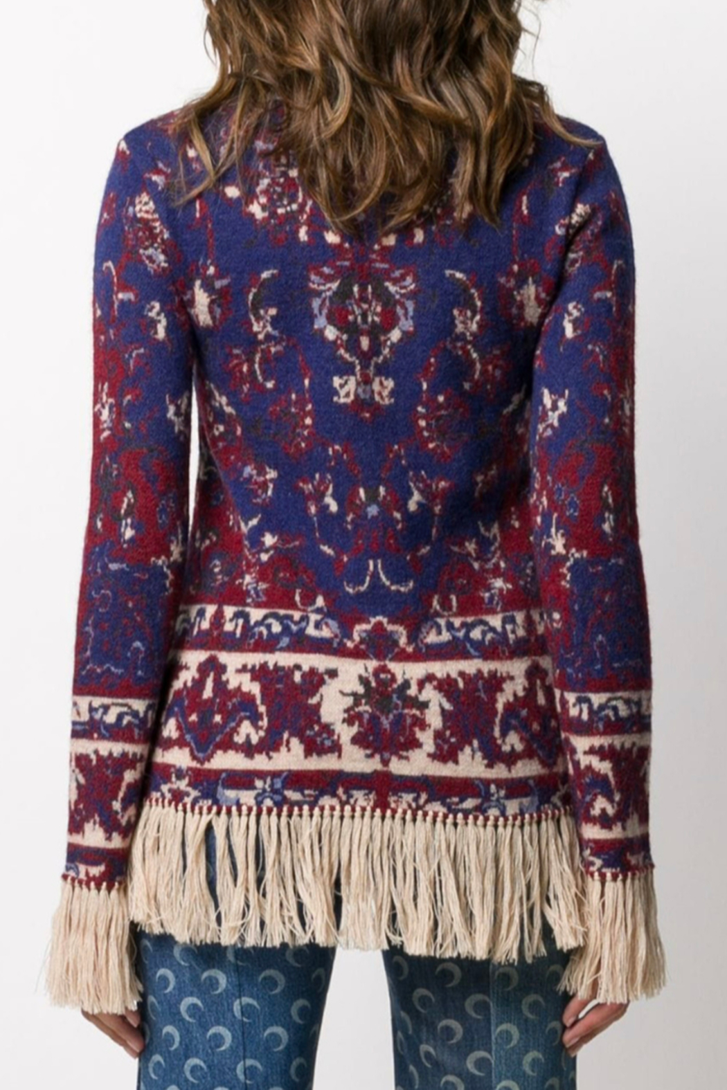 Paco Rabanne KNIT PULLOVER WITH FRINGE - Front Full Image